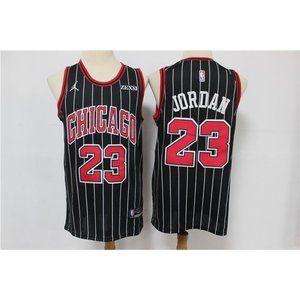 Chicago Bulls Michael Jordan Jordan Black Jersey